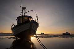 Essex Thorpe Bay (daveknight1946) Tags: sunrise mud riverthames fishingboats rope chain essex thorpebay sundaylights landscape greatphotographers