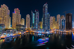 Dubai Marina (Mustafa Kasapoglu) Tags: dubai nightphoto nightphotography night nightshot nights reflections reflection water waterfront colors dubaimarina uae