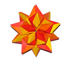 Physalis kusudama (Vladimir Phrolov) Tags: orange red yellow kusudama origami modular folding paperfolding vladimirfrolov bronzerectangles modularorigami