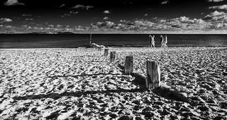 D7K_7992-Pano: Avon Beach, Dorset in Infrared