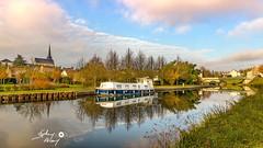 Ouzouer sur Trezée (touflou) Tags: canal péniche bateau loiret pont reflets france