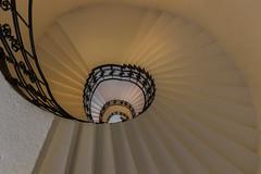 Down the drain (michael_hamburg69) Tags: hamburg germany deutschland treppe stairs stairway staircase yellow black gelb schwarz schmiedeeisen handlauf hand rail alteoberpostdirektion stephansplatz photowalkmitkatrin