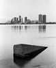 11960004 (stevemccaffrey) Tags: toronto ontario lakeontario lake city water blackandwhite monochrome kodaktrix400 film mamiya rz67 buildings skyline