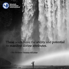 Quote of the Day: These Souls Have the Ability... (Mehdi/Messiah Foundation International) Tags: ability divine divinity enlightened enlightenment goodvibes manifest potential quote quoteoftheday quotes soul soulscience souls waterfall younusalgohar