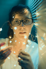(Dhiren Adatia) Tags: portrait lights color creative wow contrast lighting people 50mm canon