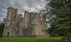 Come sit Awhile.. (Harleynik Rides Again.) Tags: wardourcastle ruin nationaltrust castle bench wiltshire nikondf harleynikridesagain