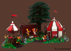 CCC - Medieval Circus (jaapxaap) Tags: lego moc ccc contest entry jaapxaap medieval circus tent nature