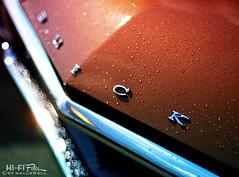 Buick Rain Dance (Hi-Fi Fotos) Tags: buick vintage american classiccar brown chrome badge hood rain water drops bokeh flare sun nikkor 50mm 14 nikon d7200 dx hififotos hallewell