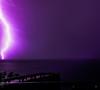 Another Stormy one (daz395) Tags: storm rain night lighteninghittingthesea fuji fujixe1 fuji1650oisll lightening forklightning