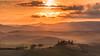 Fiery sunrays at Tuscany (Enrico Cusinatti) Tags: toscana arancione orange alberi clouds cielo cloud enricocusinatti italy italia landscape nuvole nature natura orizzonte sanquiricodorcia travel tuscany viaggi vacation vacanze vegetazione sun sunrise