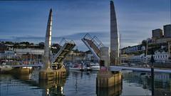 Torquay Foot Bridge (simondayuk) Tags: torquay marina harbour footbridge devon landscape coastal kitlens d5300 nikon bridge