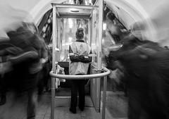 Moscow metro (sovraskin) Tags: moscow olympusomdem1 panasoniclumix14mm russia blackandwhite bw metro micro43 monochrome peakhour rushhour russian street subway underground москва россия метро подземка стрит часпик чб longexposure длиннаявыдержка city город