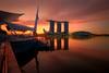 December morning (Chye Guan, Tan) Tags: sunrise cityscape landscape urbanscape singapore singaporescape marinabay marinabaysands espanade esplanadeoutdoortheatre glow epicsky