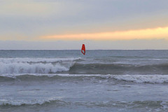 Windsurfing (annemwo) Tags: water sea seaside winter december sky wind waves tønsberg norway coast shore beach clouds surfing nature outdoor