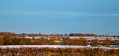 Near Kibworth (Peter Leigh50) Tags: gbrf shed train railway snow rural countryside field hedge railroad landscape kibworth leicestershire winter cold weather