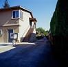 San Jose (bior) Tags: apartment sanjose driveway square hasselblad500cm hasselblad kodakfilm mediumformat ektachrome e100vs kodakektachromee100vs expiredfilm