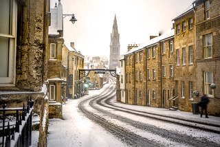 Stamford in the snow