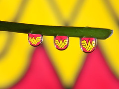 Wonder Woman Water Drop (rachael242) Tags: wonderwoman wonder woman super hero superhero abstract macro close up water waterdrop liquid create