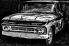 dead and done (ttounces) Tags: ttounces jan truck with history black white hdr blue filter old chevy 1962 blackandwhitepassionaward dead done