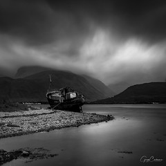 Copach Boatwreck, Fort Wiliam. (Gregg Cashmore) Tags: canon photography exposure greggcashmore greggcashmorephotography scotland highlands boat river fort william north view landscape long
