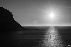 Into the light (jodee1kenobi) Tags: blackwhite sea sunset ibiza caladhort boattrip