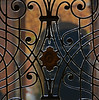 backlight on wrought iron (montel7) Tags: wrought iron backlight gate