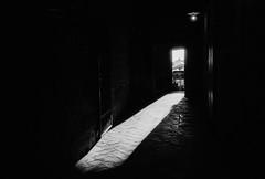 Montepulciano doorway. Leica M6, 35mm Summciron ASPH, Fomopan 100 (nickdemarco) Tags: rangefinderchronicles blackwhite film leicam6classic 35mmsummicronasph italy fomopan tuscany