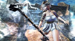 Ragnarök (clau.dagger) Tags: weloveroleplay we3rp wlrp theforge hammer weapons secondlife fantasy lybra dress maitreya mushilu ruin kit tableauvivant ass insol catwa anc eve poseidonposes