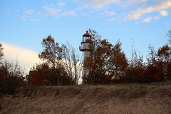 Whitefish Point Lighthouse (Larry Haines) Tags: whitefishpointlighthouse lighthouse michigan superior lake greatlakesshipwreckmuseum greatlakes evening upperpeninsula
