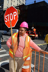 NYC Streets DSC_4338 (Nina Roberts) Tags: nyc nycstreets hardhat construction constructionworker pinkhardhat pink