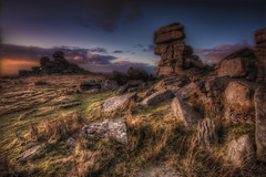 Great Staple Tor [Explored 11/11/2017] (Nickerzzzzz - Thanks for stopping by :)) Tags: ©nickudy nickerzzzzz theartofphotography wwwdigittaliacom canoneos70d ef1635mmf4lisusm sky colour photograph clouds landscape sunset rocks dartmoor greatstapletor granite goldenhour devon uk england