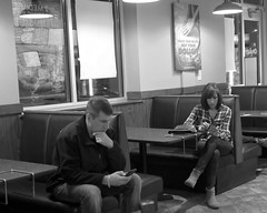 P1220011_DxO  (Alone in a crowd) (vanya_42nd) Tags: isolation smartphones monochrome