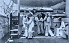 Sailors dancing with each other aboard USS OLYMPIA - 1899 (SSAVE over 10 MILLION views THX) Tags: spanishamericanwar 1899 sailors dancing ussolympia italy ship cruiser