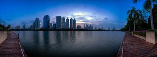 Sunrise scence of Bangkok Panorama