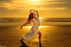 Dancing in the Light - Steffi Carter (Kent Freeman (Off Line)) Tags: 24105mm godox 360 streaklight flashpoint set sun sunset california oceanside usm ef iii mark 5d eos canon ballet urban carter steffi