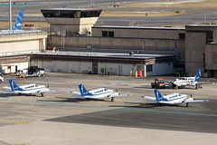 BOS Cape Air Ramp (thokaty) Tags: capeair cessna402c n223pb n26156 hyannisairservice bostonloganairport bos kbos
