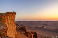 Sunrise at the Kalouts (isitaboutabicycle) Tags: desert lutdesert dasht iran sunrise solitude alone