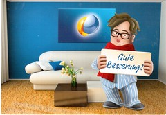 Postcrossing DE-6663043 (booboo_babies) Tags: blue getwell illness germany cute advertisement german postcrossing winter