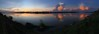 Sunset over the Mekong in Phon Phisai 2017-11-18 (SierraSunrise) Tags: sunset thailand phonphisai nongkhai mekong mekongriver rivers water reflections clouds weather boats transportation panorama