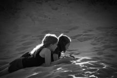Sunset Beach (pete4ducks) Tags: girls kids sisters family oregon on1pics blackandwhite sunsetbeach coast beach pete pete4ducks peteliedtke 2017 manzanita oregoncoast 500views