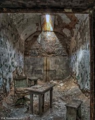 A typical Individual Cell at Eastern State Penitentiary (PhotosToArtByMike) Tags: easternstatepenitentiary cell philadelphia philadelphiapa centercityphiladelphia cellblock penitentiary prison jail philly esp cityofphiladelphia cellblocks pennsylvania pa abandoned downtown