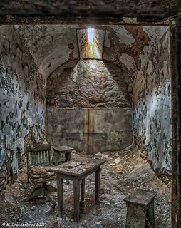 A typical Individual Cell at Eastern State Penitentiary