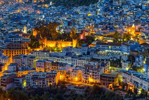 Blaue Stunde in der blauen Stadt Chefchaouen