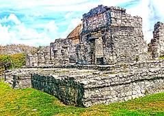 IMG_0062 Tulum (Cyberlens 40D) Tags: mexico quintanaroo tulum archeology ruins pyramids mayan culture prehispanic history canon