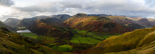 Brothers Water, Hartsop Above How, St Sunday Crag and the Helvellyn range