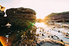 Snailcoast Sunset (haoguoju) Tags: landscape australia nsw newsouthwales sydney winter outdoor a7m2 a7 sony sonya7markii sonyilce7m2 fe bushwalking hiking mountain fe1635mmf4zaoss 1635mmf4 1635mm f4 coastalwalk zeiss zeiss1635mmf4 longreefpoint longreefpointlookout sea variotessar vario tessar ocean cliff grass longreefpointwalk golfcourse sunset blue green seascape coast snail seasnail shell flare lensflare