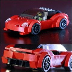 The new record-breaking hypercar that will make all other hypercars look like a joke.. Tesla Roadster! (Jerry Builds Bricks) Tags: lego moc speedchampions hypercar tesla roadster elonmusk electric car