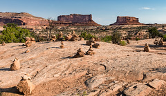 For Better or Worse? - Explore (Ron Drew) Tags: butte nikon d800 trees cairns utah nationalpark canyonlandsnationalpark moab islandsinthesky dawn summer landscape outdoor perspective