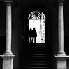 """ Silhouettes "" (pigianca) Tags: italy siena monochrome blackwhite biancoenero streetphoto urbanphoto silhouette contrast leicam82 summicronc40mmf2"