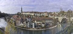 The city of Bern and the river Aare (Karl Le Gros) Tags: cityscape 2017 bern cityofbern kantonbern switzerland riveraare aar aare xaviervonerlach